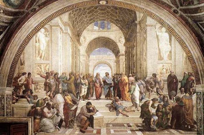 Raphael, School of Athens, c. 1509, fresco