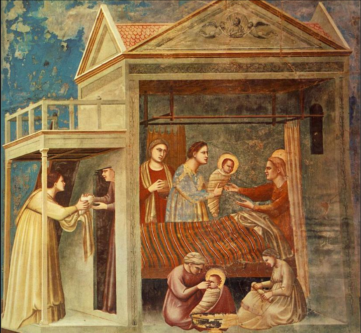 The Birth of the Virgin, Giotto di Bondone, ca. 1296, fresco. Source: http://www.wikipaintings.org/en/giotto/the-birth-of-the-virgin