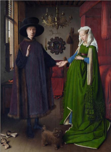 The Arnolfini Wedding, Jan van Eyck, 1434, oil on panel. Source: http://www.wikipaintings.org/en/jan-van-eyck/the-arnolfini-wedding-the-portrait-of-giovanni-arnolfini-and-his-wife-giovanna-cenami-the-1434