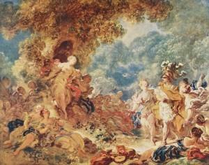 Jean-Honoré Fragonard, Rinaldo in den Gärten Armidas, 1763