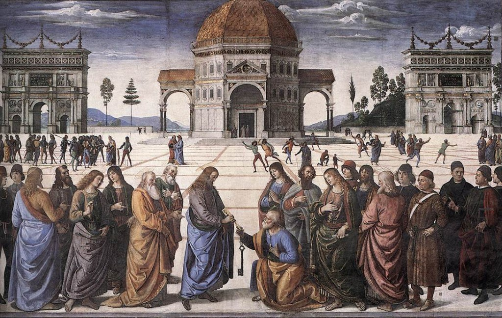 Perugino, Delivery of the Keys, c. 1481, fresco