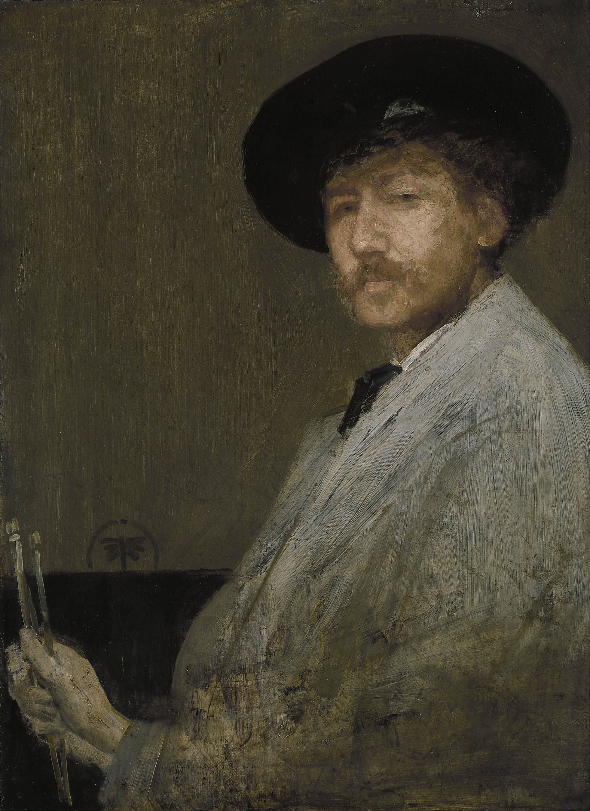 James Abbott McNeill Whistler, Arrangement in Gray: Portrait of the Painter, c. 1872, oil on canvas