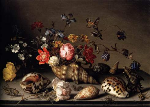 Balthasar Van der Ast, Still Life of Flowers, Shells, and Insects, ca. 1635