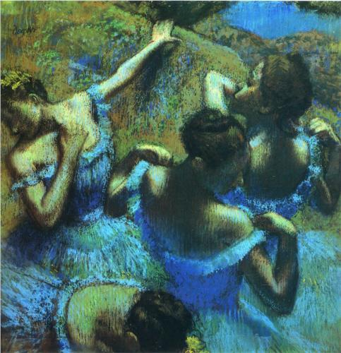 Edgar Degas, Blue Dancers, 1899