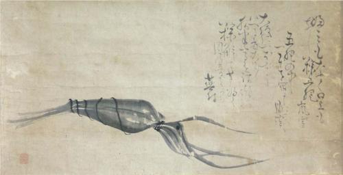 Matsumura Goshun, Chimaki (calligraphy by Yosa Buson)