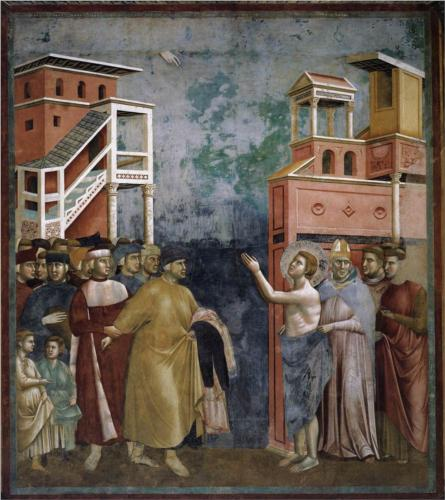 Giotto, St. Francis Denounces all Worldly Goods, 1297, fresco