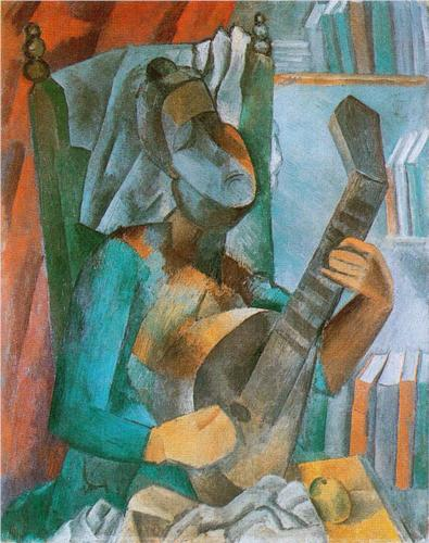 Pablo Picasso, Woman with a Mandolin, 1909, oil on canvas