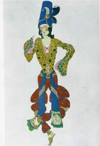 Costume for Nijinsky, Leon Bakst, 1910, gouache on paper