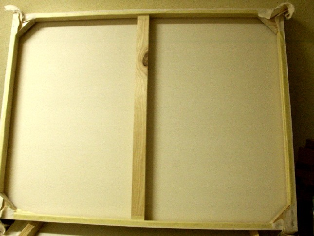 Frame with cross bracing.