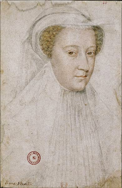 François Clouet, Sketch for Mary Stuart in Mourning, chalk on paper