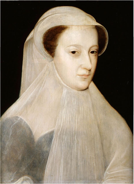François Clouet, Mary, Queen of Scots, Mourning, 1560-61, oil on panel