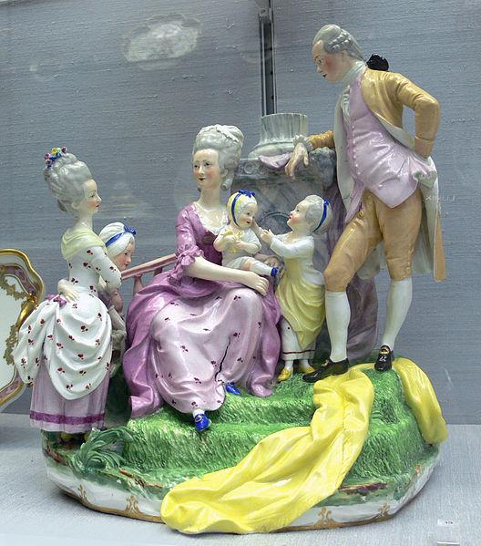 Anton Grassi, Family of Archduke Leopold, 1775-1780, porcelain.