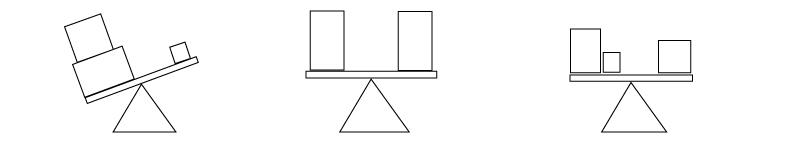 Unbalanced, Symmetrical Balance, Asymmetrical Balance