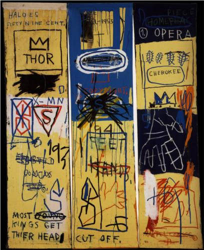 Jean-Michel Basquiat, Charles the First, 1982, acrylic and crayon on canvas