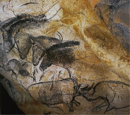 Panel of Horses, ca. 30,000 BCE. Chauvet Cave, France