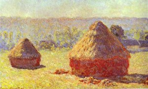 Claude Monet, Haystack. End of Summer. Morning. 1890-91, oil on canvas