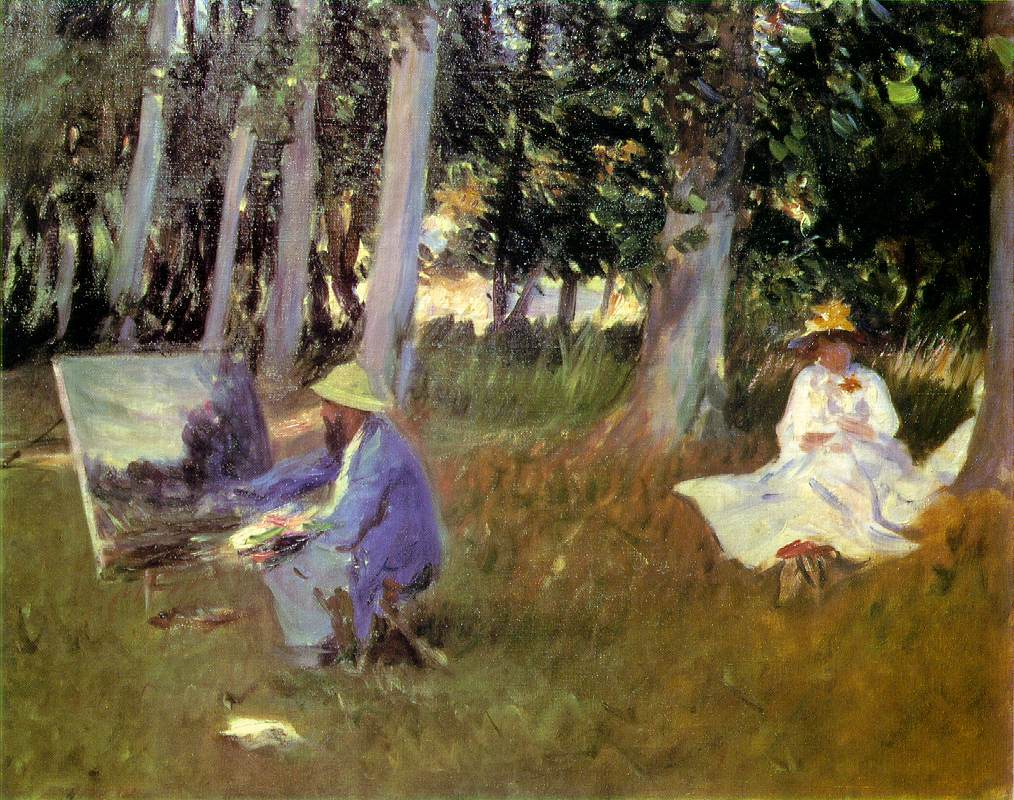 John Singer Sargent, Claude Monet Painting by the Edge of a Wood, c 1885, oil on canvas