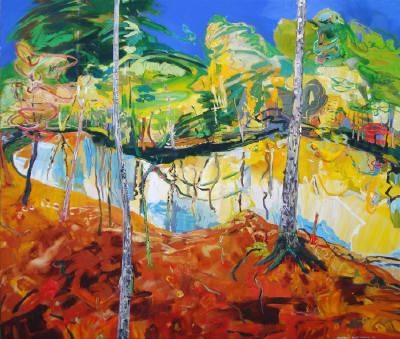 David Alexander, Making the Ponds Around, acrylic on canvas