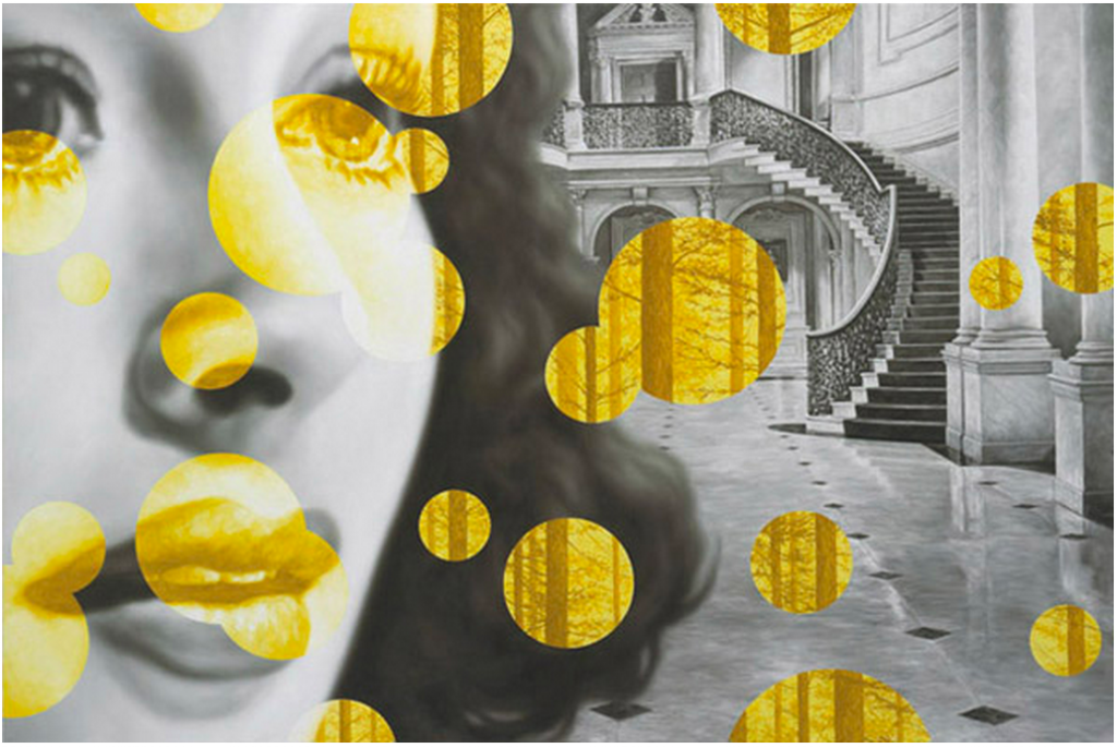 "Eric White, Foyer, 2009, oil on canvas, 48"" x 72"""
