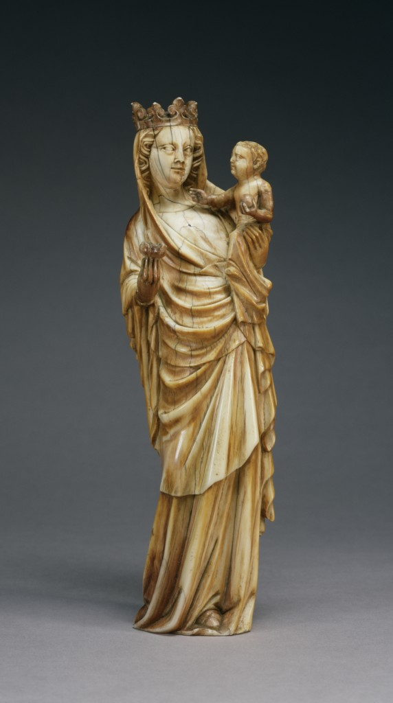 Virgin and Child, approx. 1350-1360, ivory