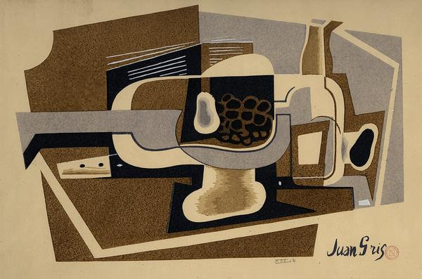 Juan Gris, Nature Morte, 1922, gouache on paper