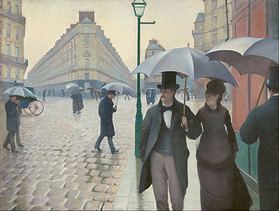 Gustave Caillebotte, Paris Street; Rainy Day, oil on canvas, 1877