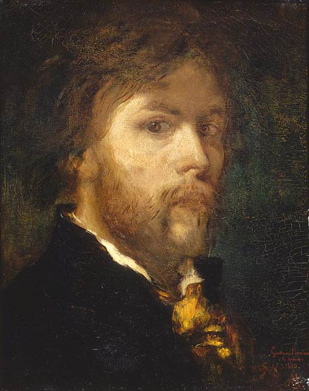 Gustave Moreau, Self Portrait, 1850, oil on canvas