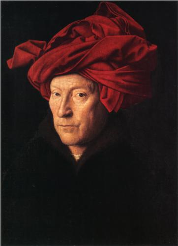 Jan van Eyck, A Man in a Turban, 1433, oil on wood