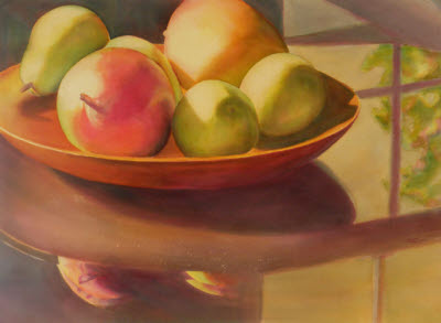 Kaaren Marquez, Reflections on a Still Life, watercolor on paper