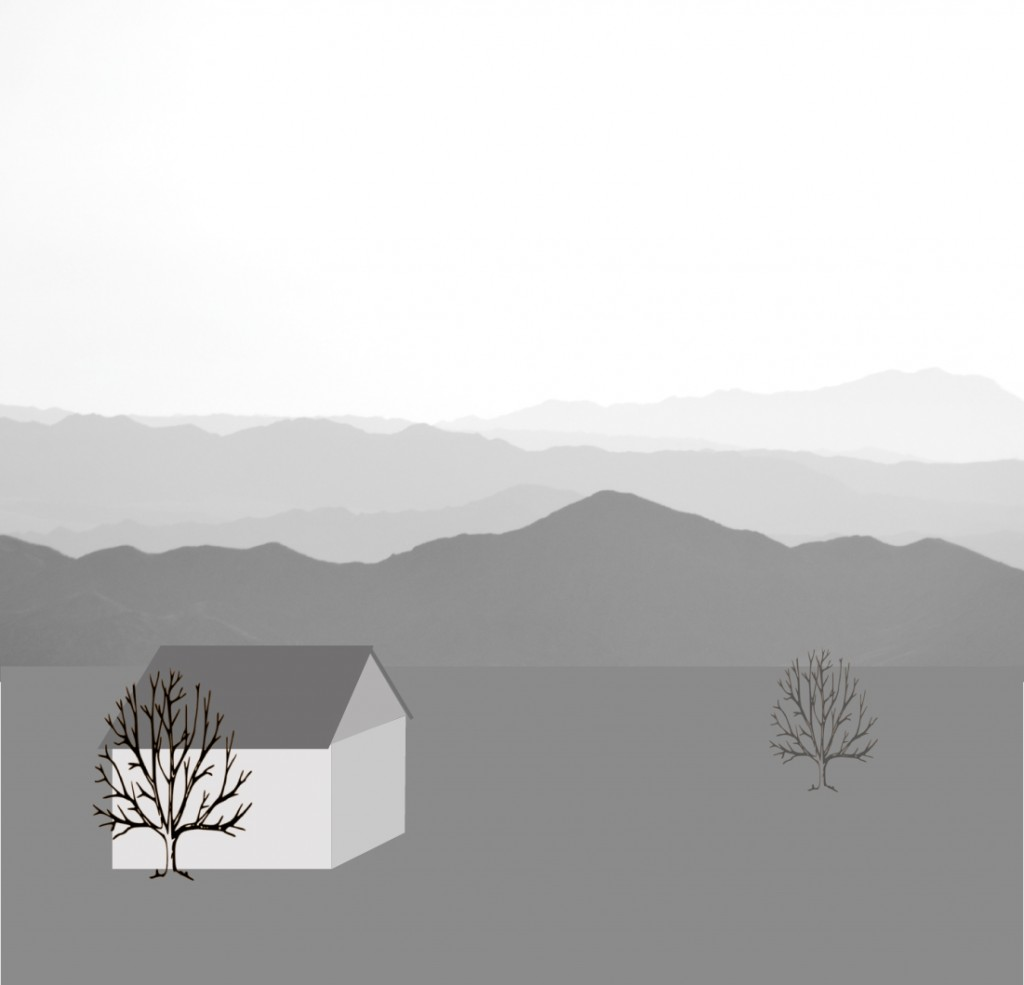Mountains_BW-trees-house-morecontrast
