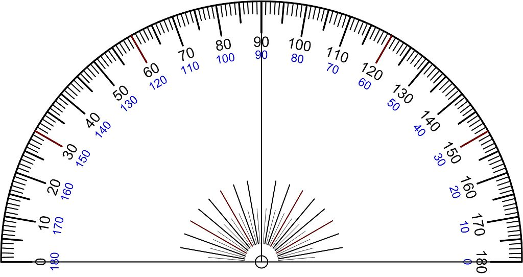 how to find an azimuth with a protractor