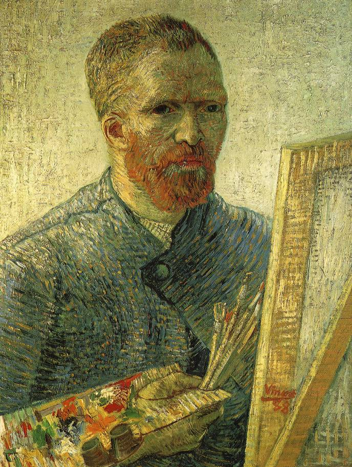 Vincent van Gogh, Self Portrait as an Artist, 1888, oil on canvas