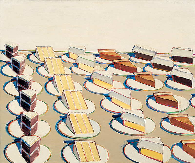 Wayne Thiebaud, Pie Counter, 1963, oil on canvas