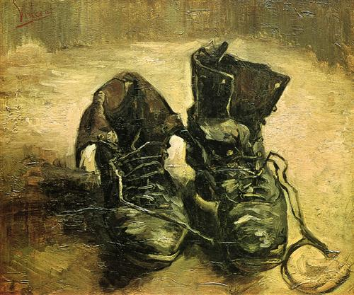 Vincent van Gogh, A Pair of Shoes, 1886, oil on canvas