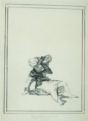 Francisco Goya, Accuse the Time, 1812, pen and pencil on paper