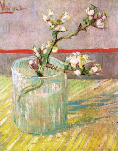 Vincent van Gogh, Blossoming Almond Branch in a Glass, 1888, oil on canvas