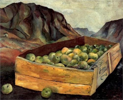 Lucian Freud, Box of Apples in Wales, 1939, oil on canvas
