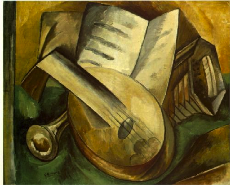 Georges Braque, Musical Instruments, 1908, oil on canvas