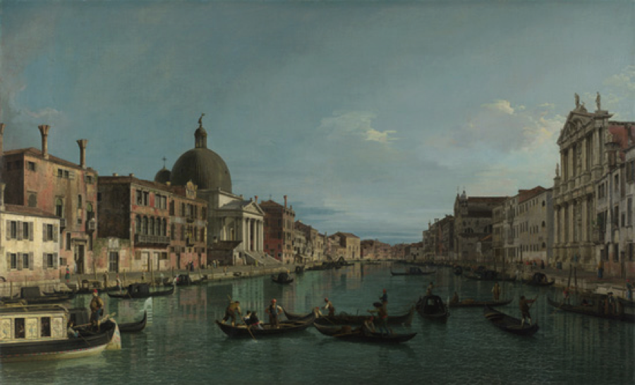 Canaletto, Venice—Grand Canal, oil on canvas, 1738