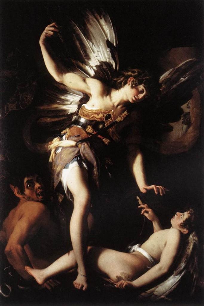 Giovanni Baglione, Sacred and Profane Love, 1602-1603, oil on canvas