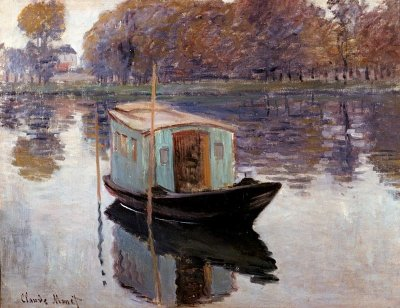 Claude Monet's studio boat, Giverny, France