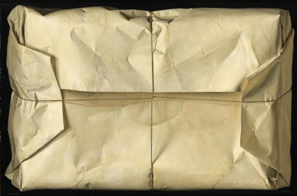 Claudio Bravo, White Package, 1967, oil on compressed wood
