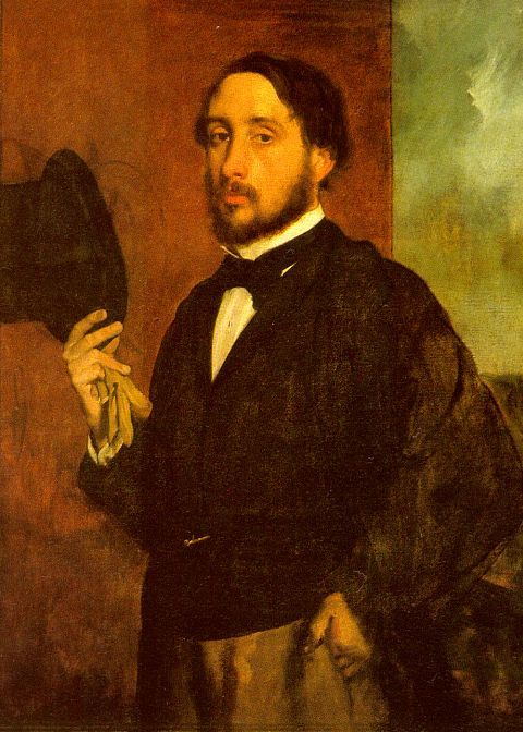 Edgar Degas, Self Portrait, 1863, oil on canvas