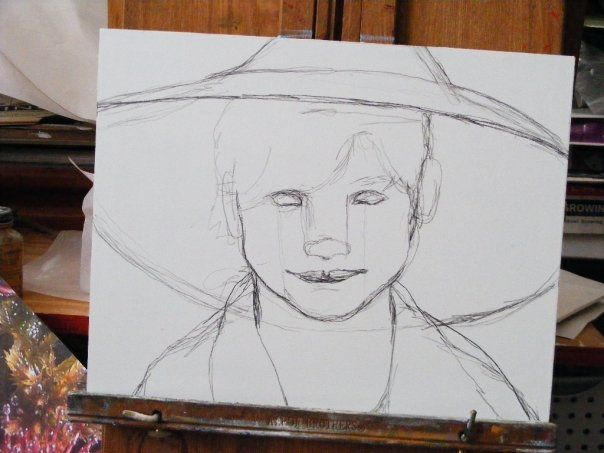 Drawing Smooth Lines Canvas : Traditional portrait painting beginner s school