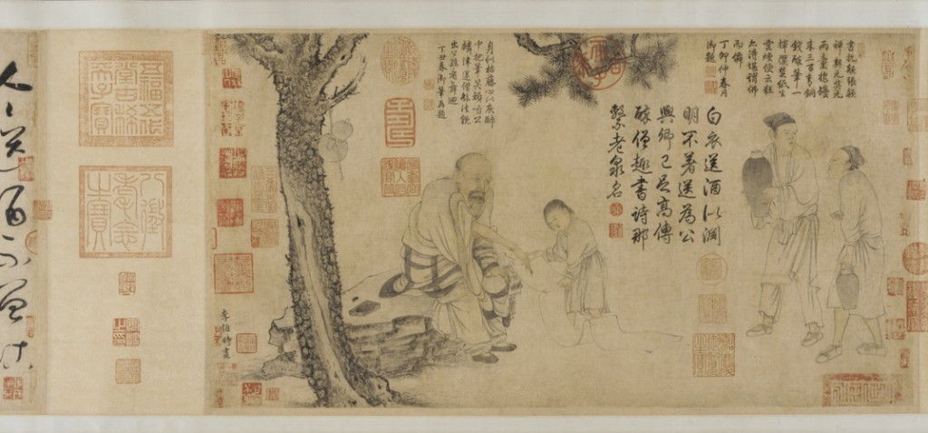 The Drunken Monk, Li Gonglin, Chinese, ca. 1049 – 1106, Southern Song Dynasty, ink and color on paper