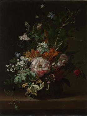 Rachel Ruysch, Flowers in a Vase, ca. 1685