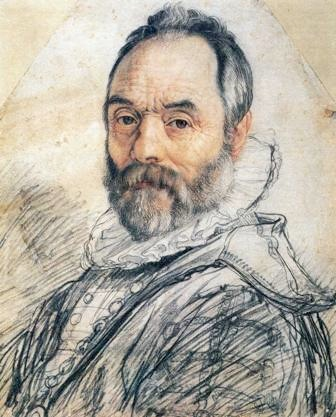 Hendrick Goltzius, Portrait of Giovanni Bologna, 1591, red and black chalk on paper