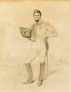 Jean-Auguste-Dominique Ingres, General Louis-Etienne Dulong de Rosnay, 1818, leadpoint on paper