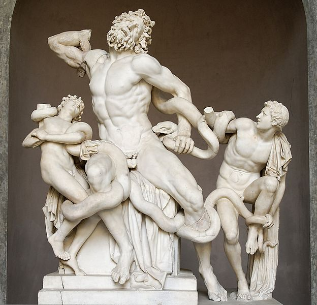 Laocoön and his Sons, marble copy after original from ca. 200 B.C.E. 8' high