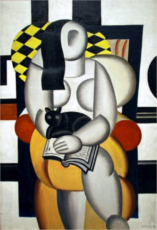 Fernand Leger, Woman with a Cat, 1921, oil on canvas